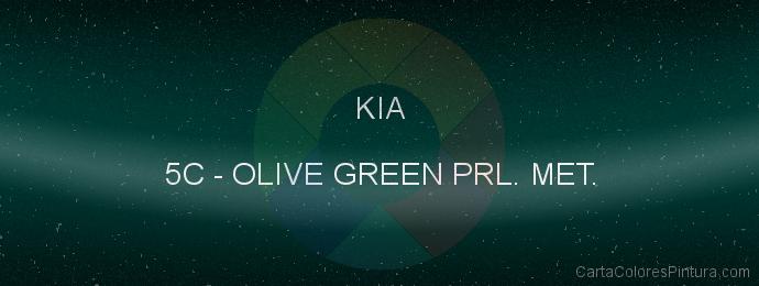 Pintura Kia 5C Olive Green Prl. Met.