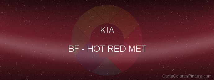 Pintura Kia BF Hot Red Met