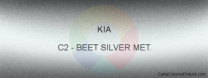 Pintura Kia C2 Beet Silver Met.