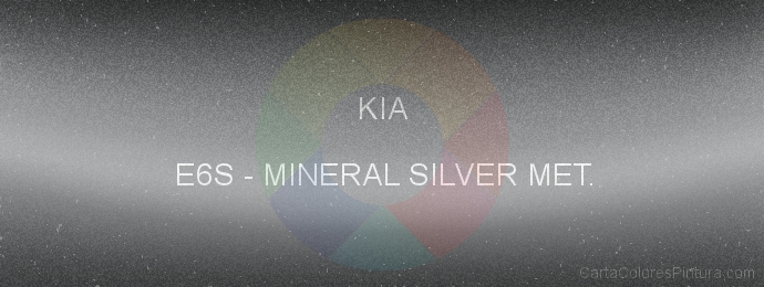 Pintura Kia E6S Mineral Silver Met.