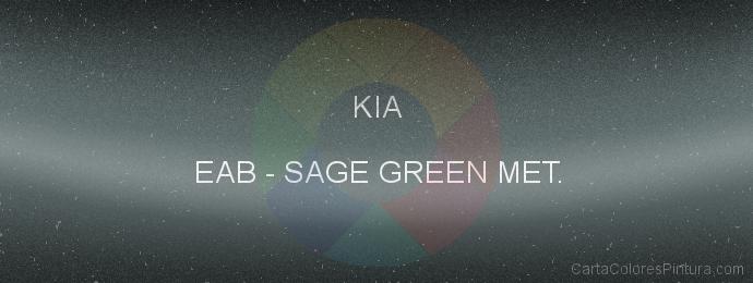 Pintura Kia EAB Sage Green Met.