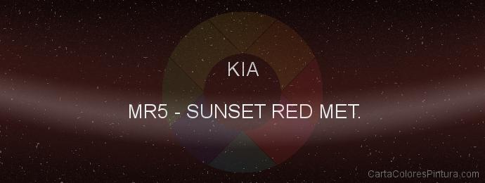 Pintura Kia MR5 Sunset Red Met.