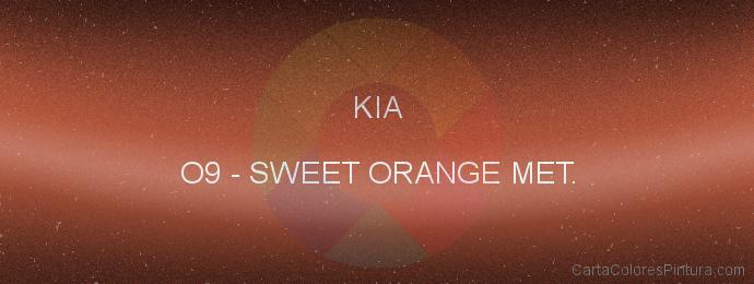 Pintura Kia O9 Sweet Orange Met.