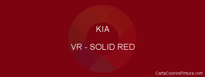 Pintura Kia VR Solid Red