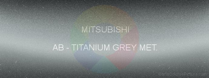 Pintura Mitsubishi AB Titanium Grey Met.