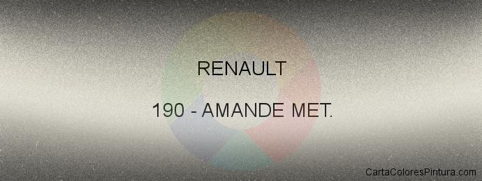 Pintura Renault 190 Amande Met.