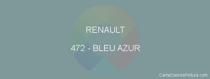 Pintura Renault 472 Bleu Azur