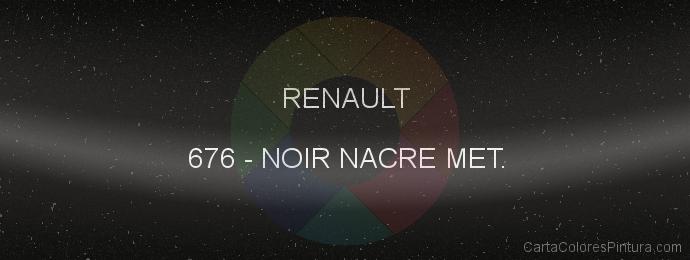 Pintura Renault 676 Noir Nacre Met.