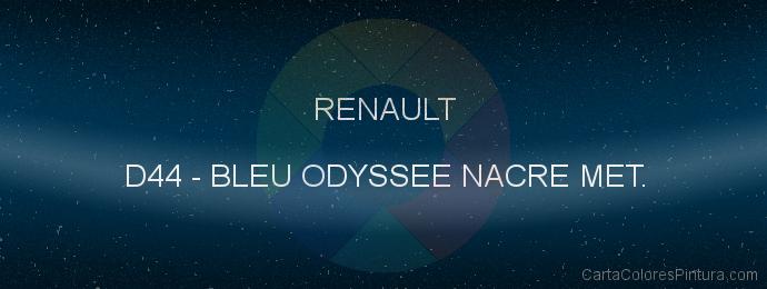 Pintura Renault D44 Bleu Odyssee Nacre Met.