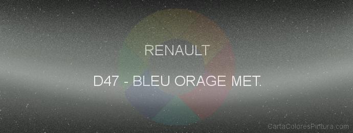 Pintura Renault D47 Bleu Orage Met.