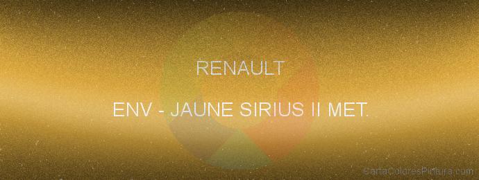 Pintura Renault ENV Jaune Sirius Ii Met.