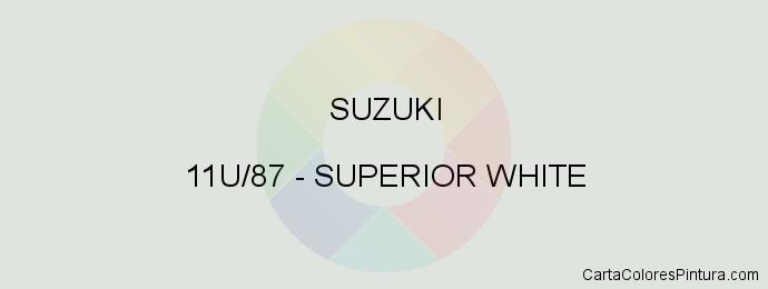 Pintura Suzuki 11U/87 Superior White
