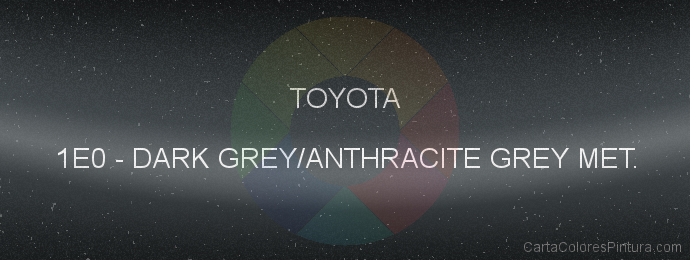Pintura Toyota 1E0 Dark Grey/anthracite Grey Met.