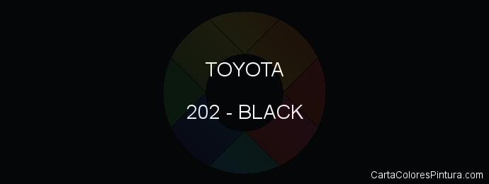 Pintura Toyota 202 Black