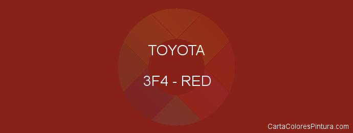 Pintura Toyota 3F4 Red