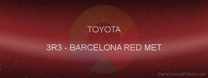 Pintura Toyota 3R3 Barcelona Red Met.