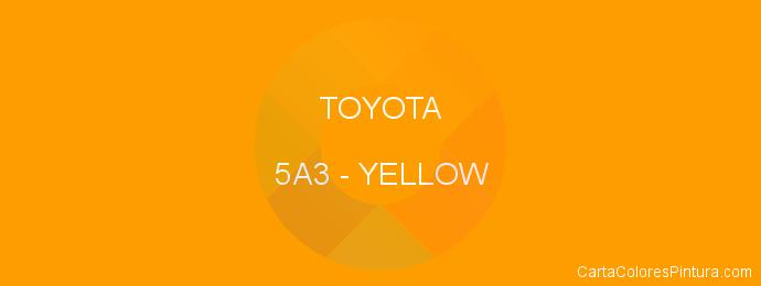 Pintura Toyota 5A3 Yellow