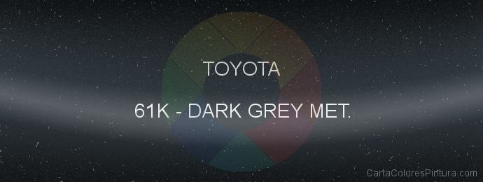 Pintura Toyota 61K Dark Grey Met.