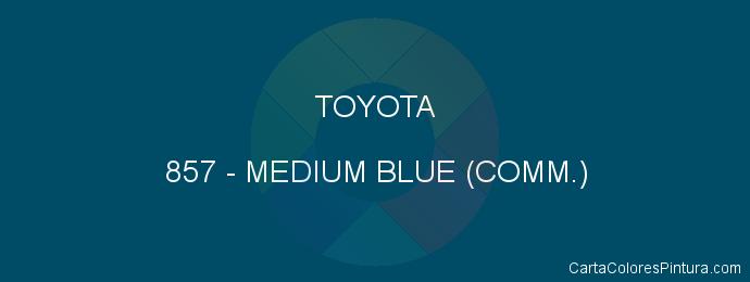 Pintura Toyota 857 Medium Blue (comm.)