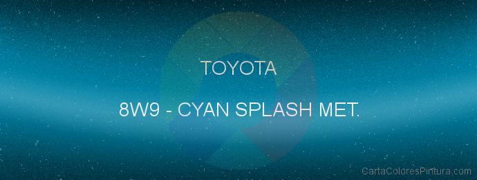 Pintura Toyota 8W9 Cyan Splash Met.