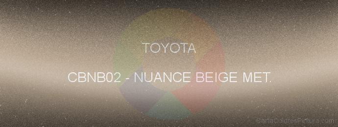 Pintura Toyota CBNB02 Nuance Beige Met.