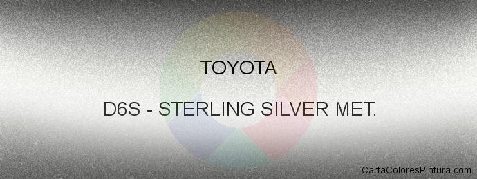 Pintura Toyota D6S Sterling Silver Met.