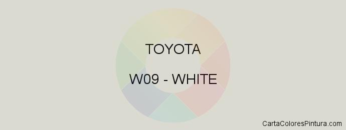 Pintura Toyota W09 White