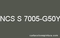Couleur NCS S 7005-G50Y